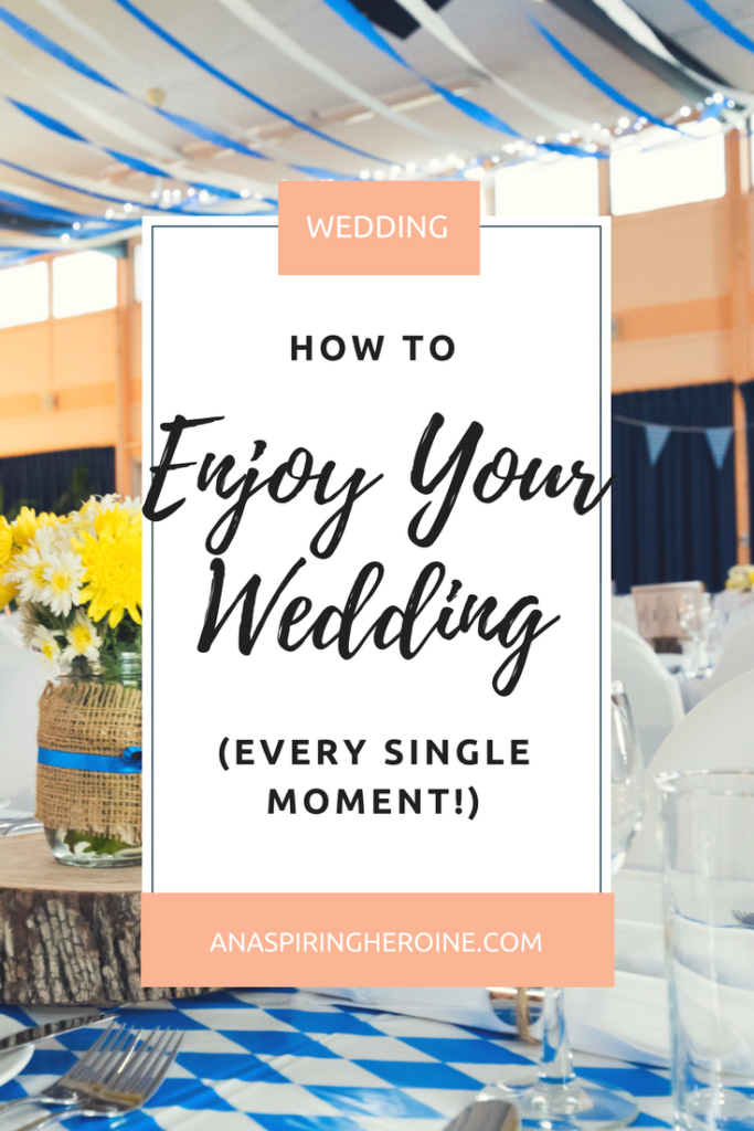Weddings are stressful, emotional, beautiful things, and sometimes you just have to stop and take it all in. Here are some tips to be your best self on the big day! | An Aspiring Heroine