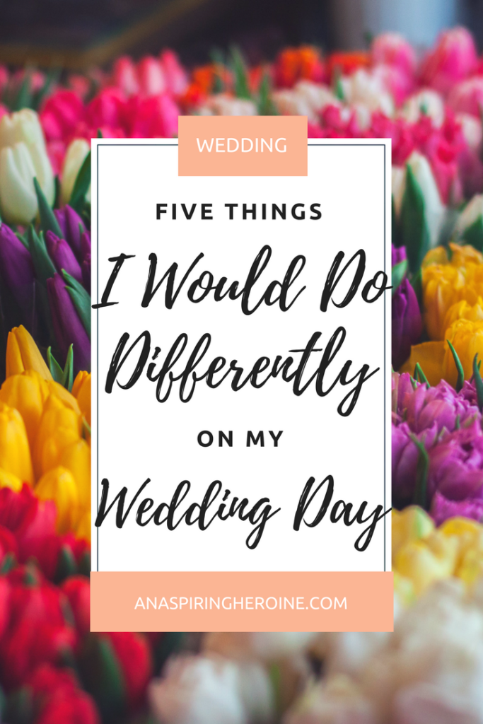 Let's be honest for a second. You can do as much wedding planning as you want, but you won't know really be prepared for everything until you've experienced your big day. That's why I'm here with a few things I would do differently, now that I've already survived my wedding day! | An Aspiring Heroine