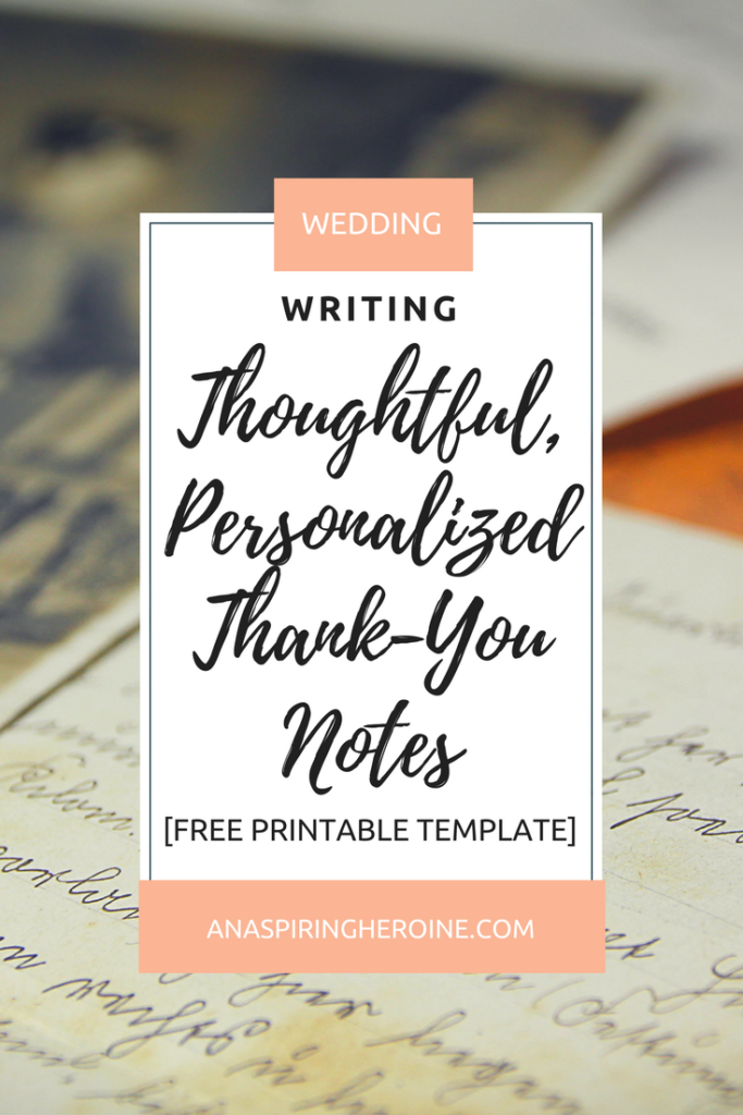 Thank you notes might seem like the bane of any bride's existence, but they don't have to be! I've created a fun Mad Libs style printable thank you note template to keep things entertaining and easy | An Aspiring Heroine