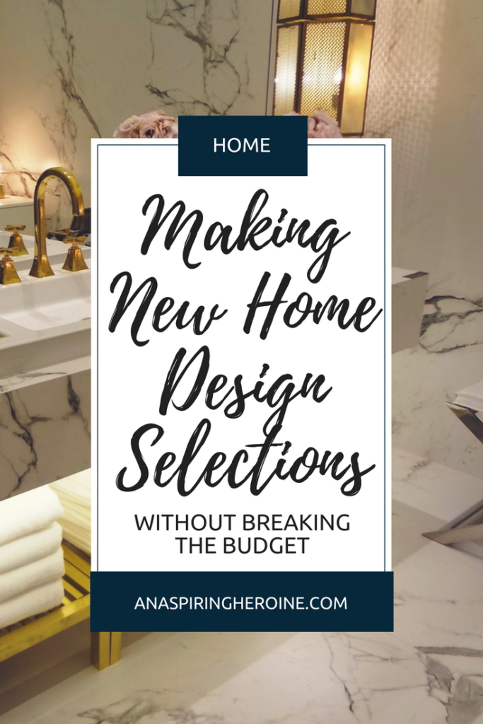 Building a new home? Congratulations! It's an exciting, stressful process, but here are some tried and true methods I used to keep from breaking the bank (and our home loan) when we made all of our new home design choices! | An Aspiring Heroine