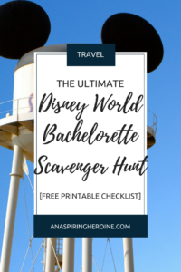 "Some brides just don't want the typical ""get drunk and do embarrassing things"" bachelorette party, which is why I had my bachelorette party at Walt Disney World, and my MOH put together this awesome Disney World Bachelorette Scavenger Hunt for me, which I'm now sharing with you 