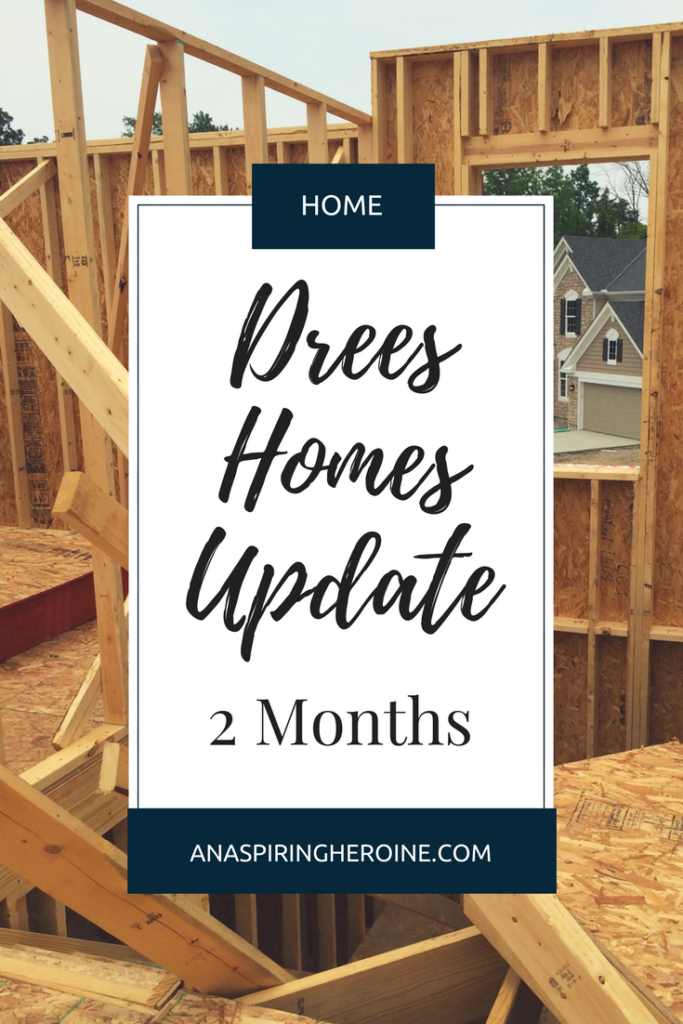 We chose the Davidson floorplan for our new home with Drees Homes, and here's a look at our second month since breaking ground | An Aspiring Heroine