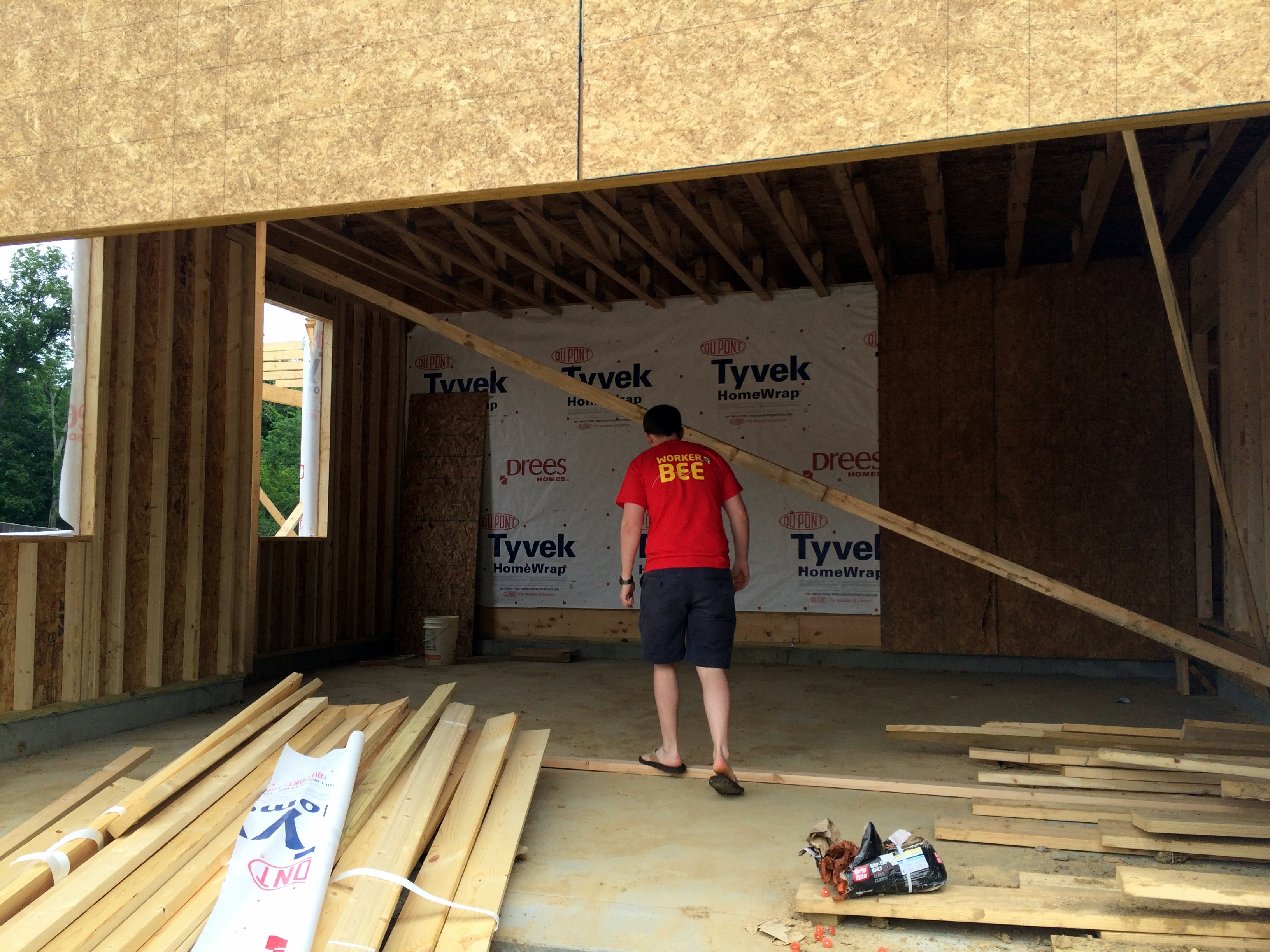 drees-homes-framing-garage