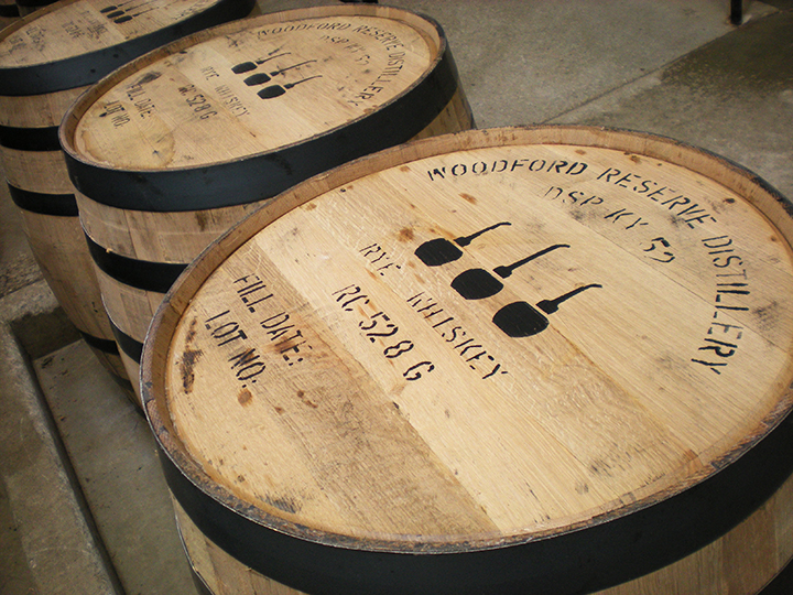 kentucky bourbon trail woodford reserve barrels