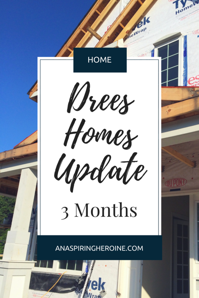We worked with Drees Homes to build our new house from the ground up. Here's an update of what new homeowners can expect in the third month of building a new home! | An Aspiring Heroine