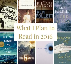 What I Plan to Read in 2016 // www.anaspiringheroine.com