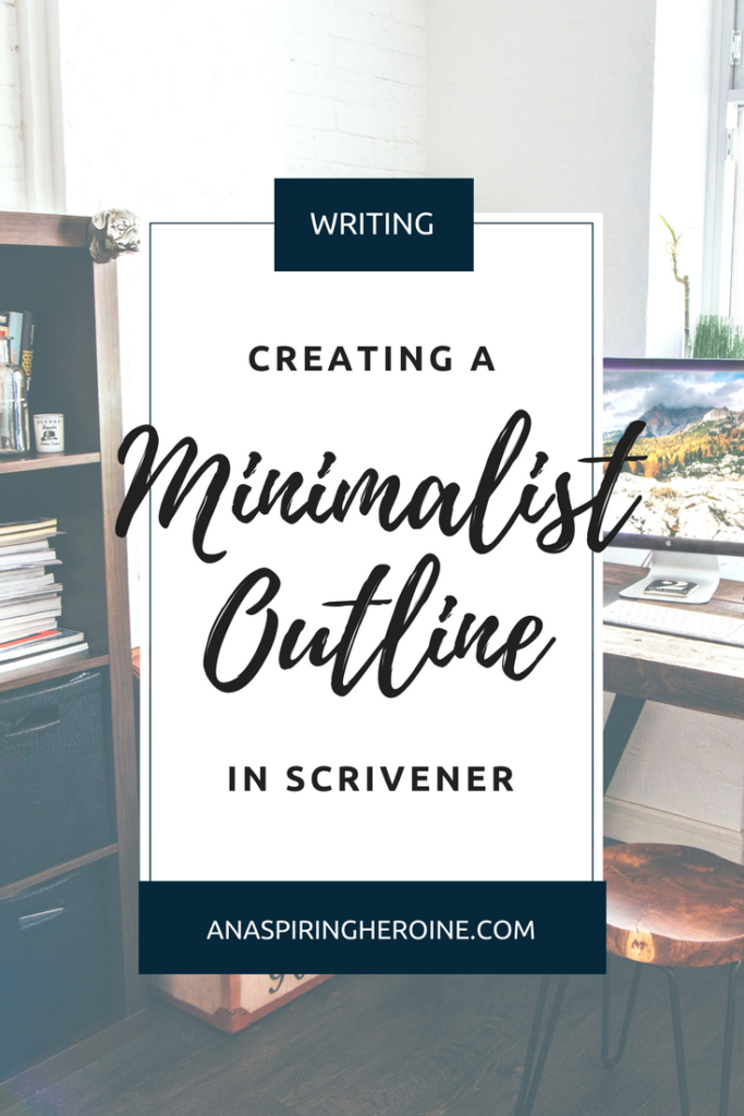 Whether you're a Plotter, a Pantser, or somewhere in-between, you'll love this minimalist outline in Scrivener. I give you step-by-step instructions for creating your own outline, or you can download my template, including custom meta-data and templates, for free! | An Aspiring Heroine